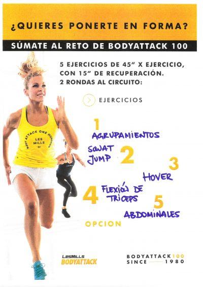 Segunda semana del reto BodyAttack 100!!