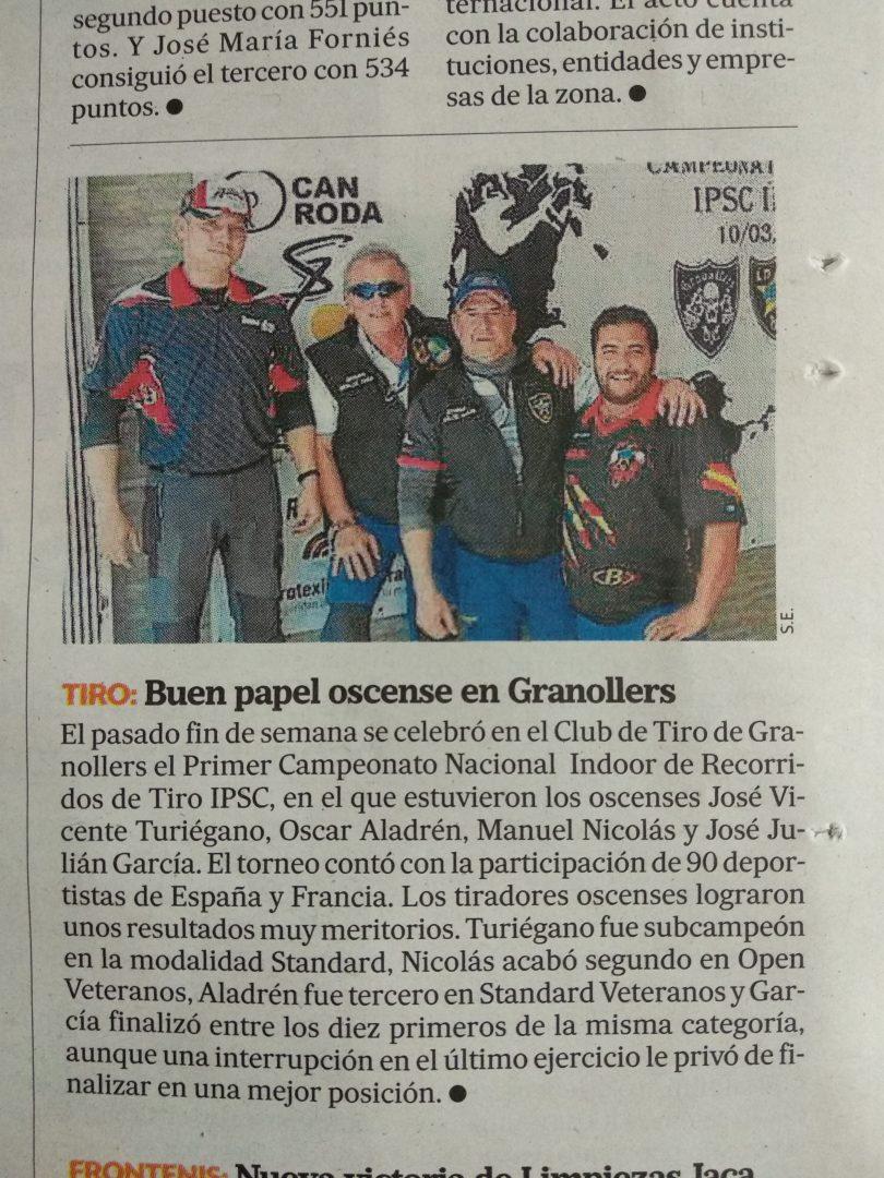 Gran resultado de Manuel Nicolás en el primer campeonato nacional Indoor de IPSC!!